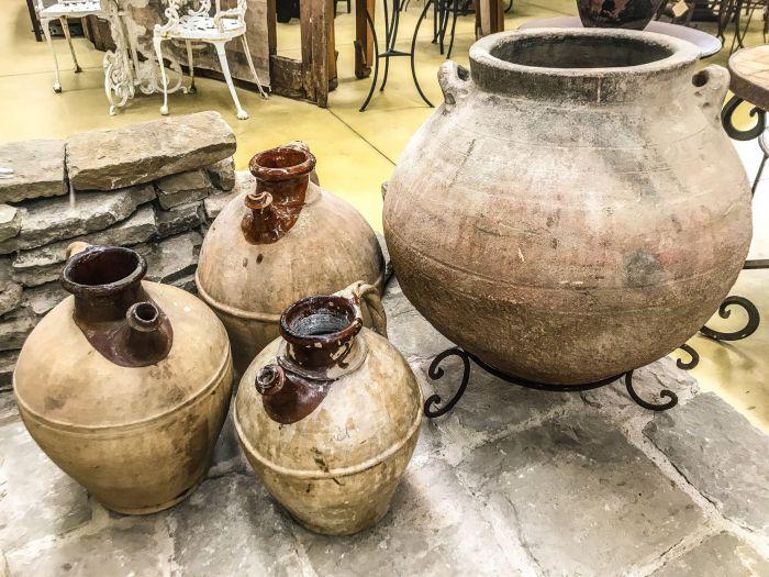 Beautiful and Antique terracotta amphorae