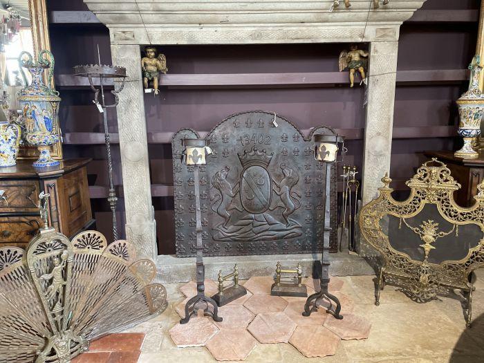Antique fireplace mantels accessories, original!