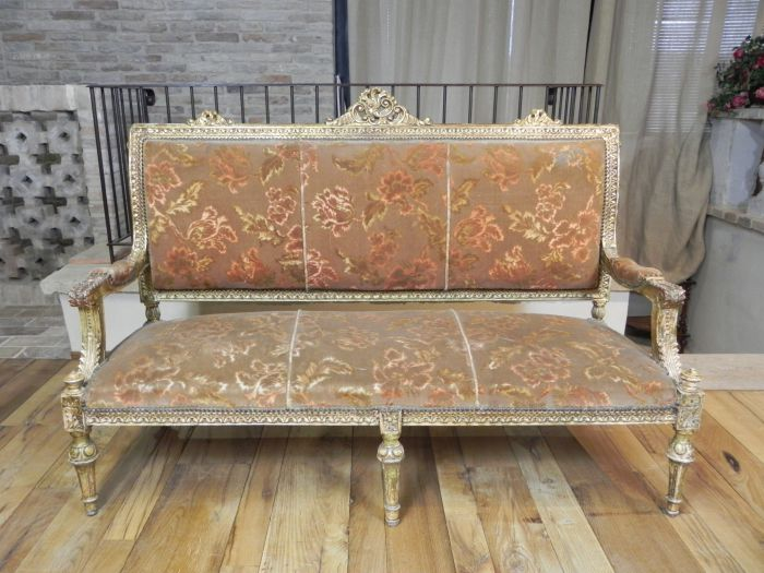 Antique sofas and dormeuse various styles and eras