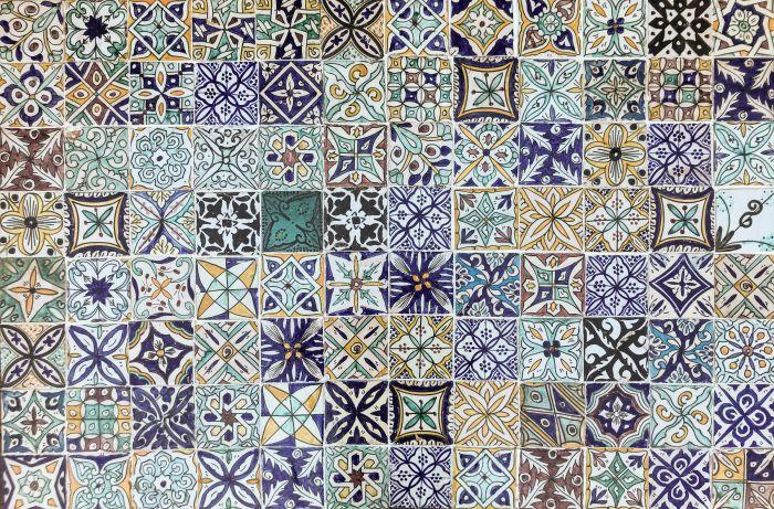 Majolica tiles 10 x 10 hand painted