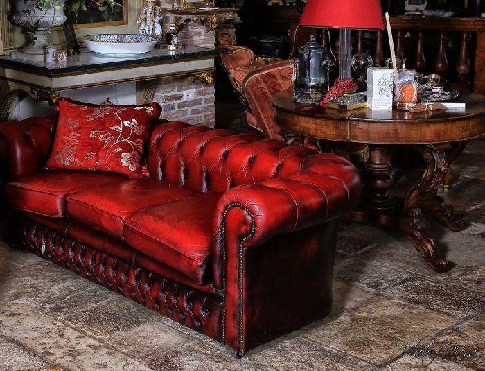 Antique Chesterfield sofas, originals