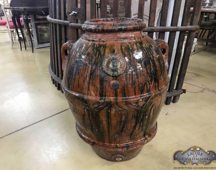 Antique Montelupo jar, glazed