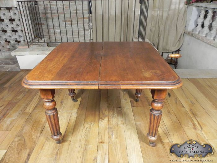 Antique square tables from various eras and styles