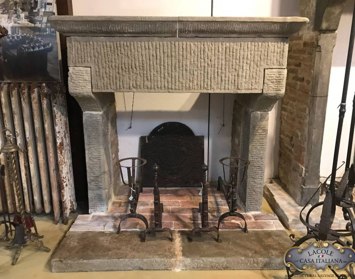 Antique stone fireplace, 1800s
